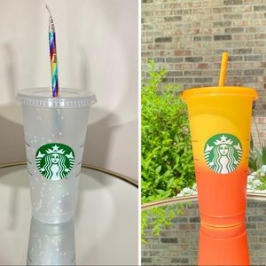 Starbucks confetti and color changing cups